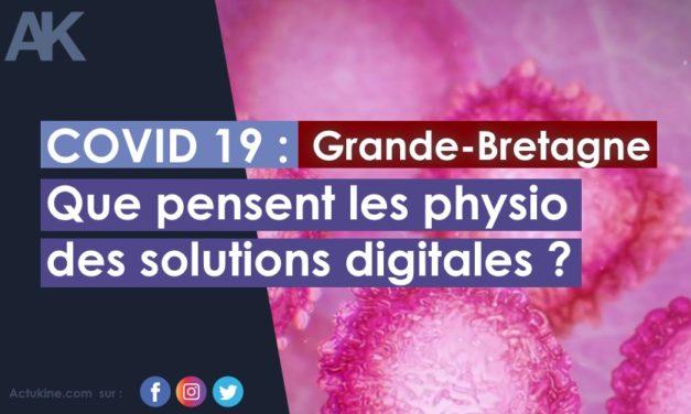 Grande Bretagne : COVID-19 Que pensent les physio des solutions digitales ?