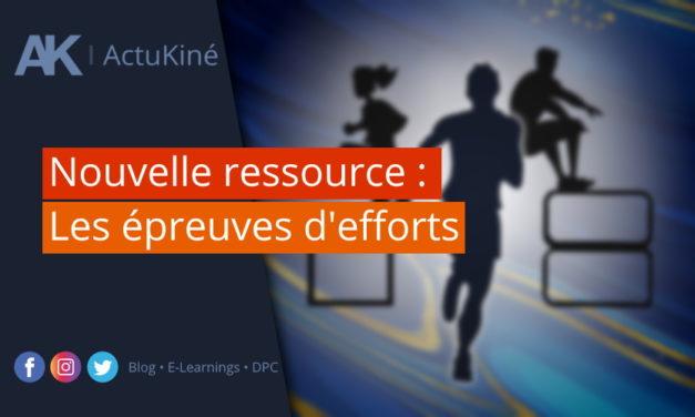 Nouvelle ressource : les épreuves d'effort